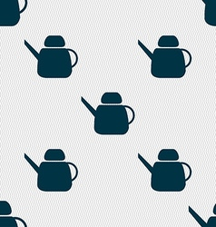 Kettle Icon sign Seamless pattern with geometric vector image