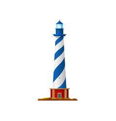 lighthouse beacon tower sea searchlight navigation vector image