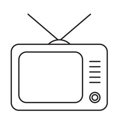 line icon television vector image