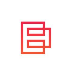lined letter b logo design vector image