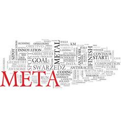 Meta word cloud concept vector