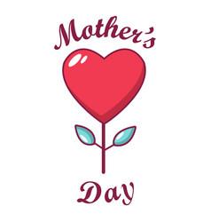 mom day icon cartoon style vector image