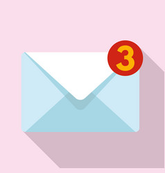 New mail inbox icon flat style vector