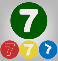 number 7 sign design template element 4 vector image