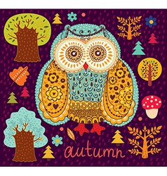 Owl Forest vector image