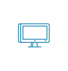 pc display linear icon concept pc display line vector image