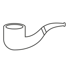 pipe for smoking isolated icon vector image