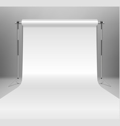 realistic empty white photo studio backdrop vector image