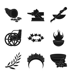 Religion and myths sign vector