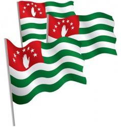 republic of Abkhazia 3D flag vector image