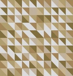 Retro triangle pattern with brown background vector image