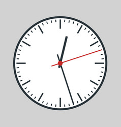 Round analogue clock vector