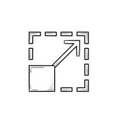 scalability hand drawn outline doodle icon vector image