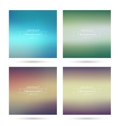 Set of colorful abstract backgrounds vector image