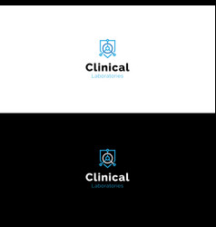 Simple clinical medical research laboratory logo vector