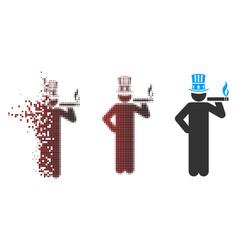 Sparkle pixel halftone american capitalist icon vector
