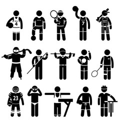 sportswear sports attire clothing a set of vector image