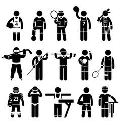 Sportswear sports attire clothing a set vector