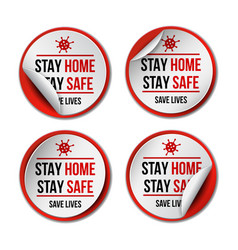 stay at home coronavirus covid-19 quarantine vector image