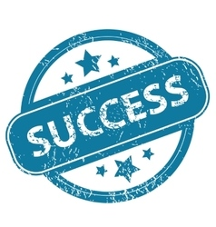 SUCCESS round stamp vector image