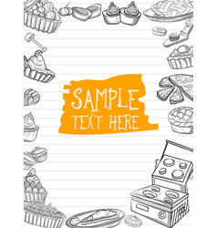 template different types bakery item vector image
