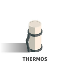 thermos icon symbol vector image
