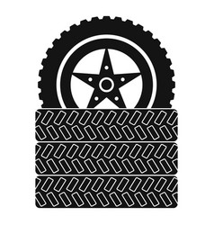 Tire leap icon simple style vector