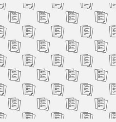 to do list linear seamless pattern vector image