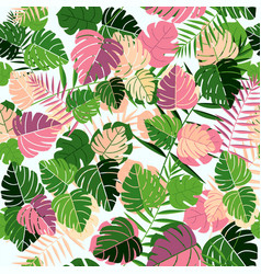 tropical summer leaf seamless pattern art vector image
