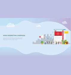 video marketing campaign concept with social vector image