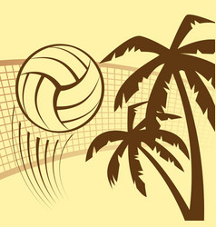 Volleyball beach background vector
