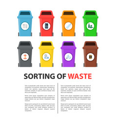 Waste sorting mockup vector