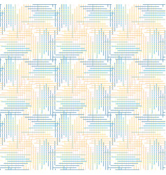 Whimsical woven criss cross lines seamless pattern vector
