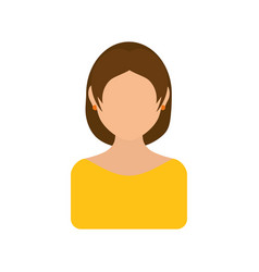 Women faceless profile vector