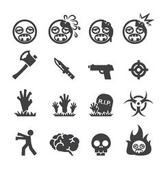 Zombie icons vector image