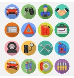 Car Service Set Icons vector image vector image