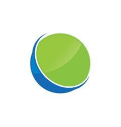 circle ring logo design vector image