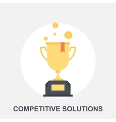 Competitive Solutions vector image vector image