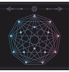 geometric icon magic 4 vector image