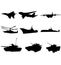 military technics vector image