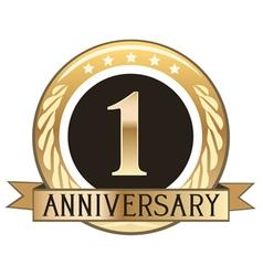 One Year Anniversary Badge vector image