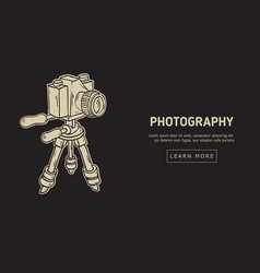 photography design with isolated camera on a vector image