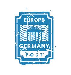 Vintage postage europe mail stamp vector