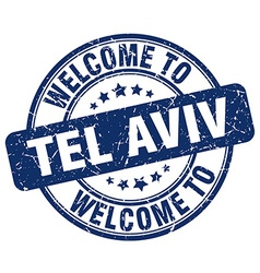 Welcome to tel aviv vector