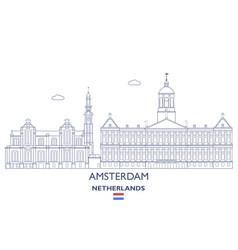 amsterdam city skyline vector image vector image