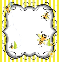 Bee baby shower party invitation vector image vector image