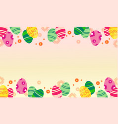 easter egg greeting card style vector image