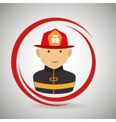 firefighter uniform protection rescue vector image
