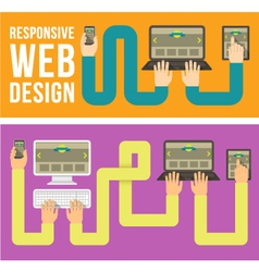 Responsive Web Design Horizontal Banners vector image