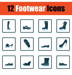 Set of footwear icons vector image